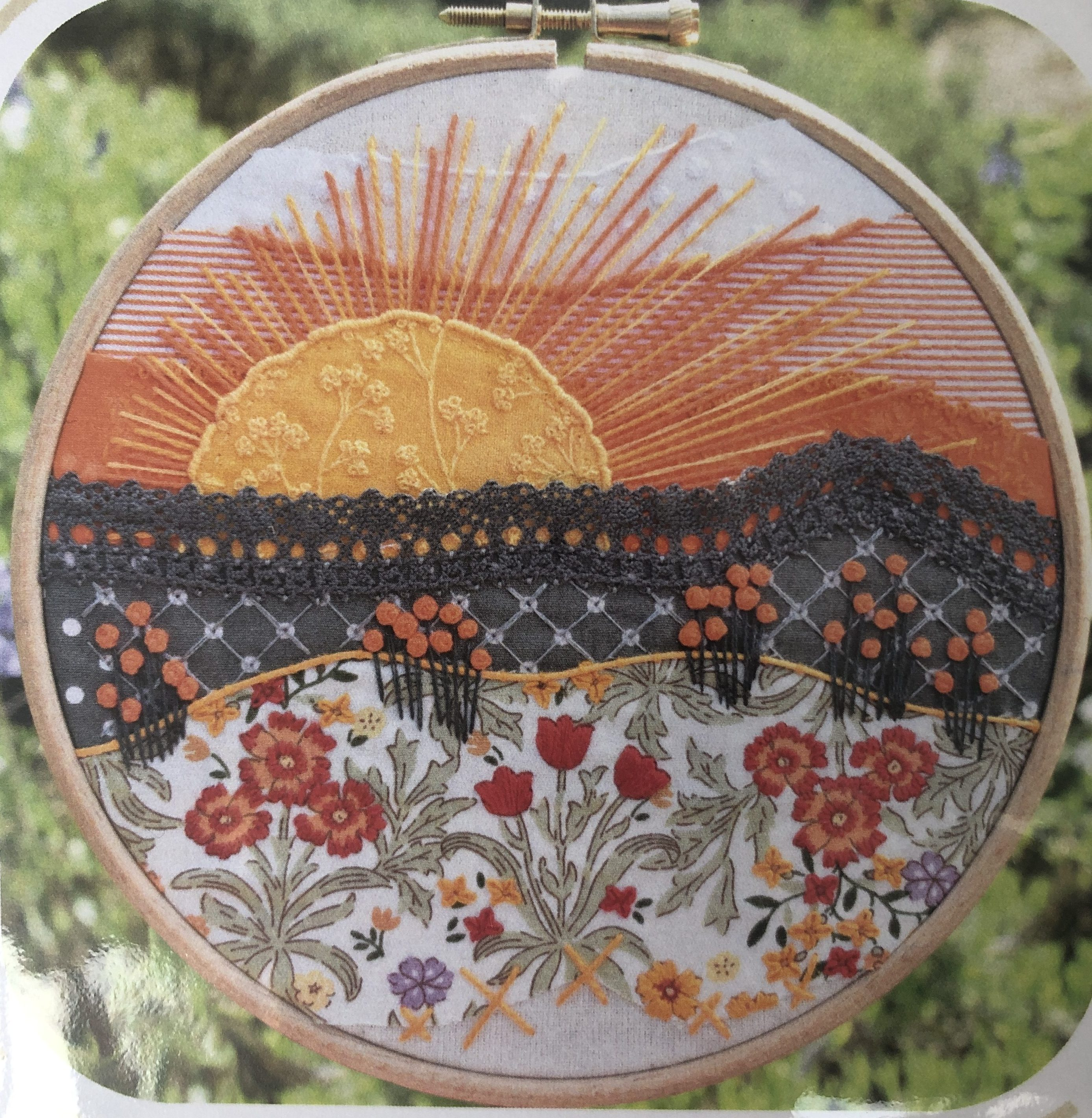 Stitchscape Fire Flower Embroidery Kit
