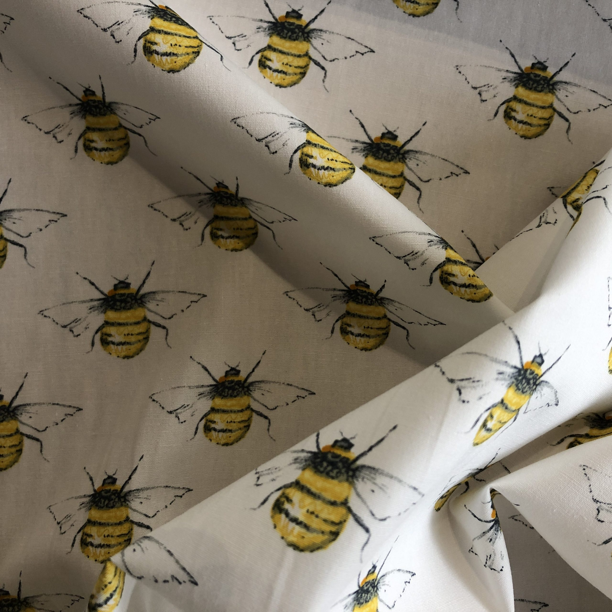 Bee Printed Cotton