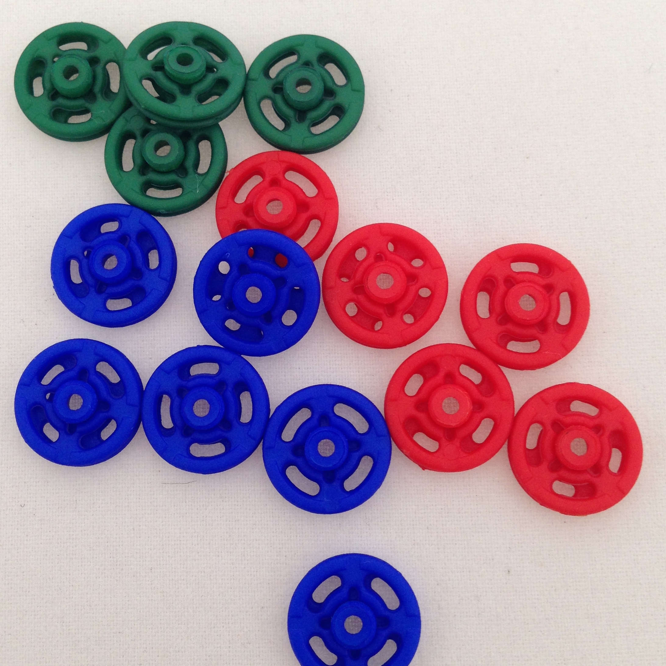 Coloured Press Studs or 'Poppers'