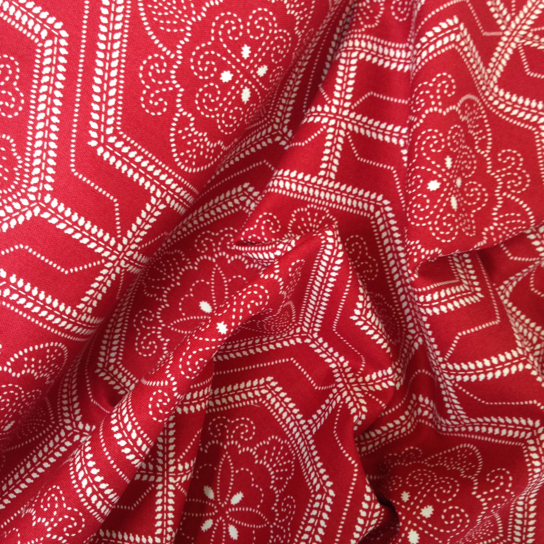 Red Bi-Colour, Eastern Graphic Print